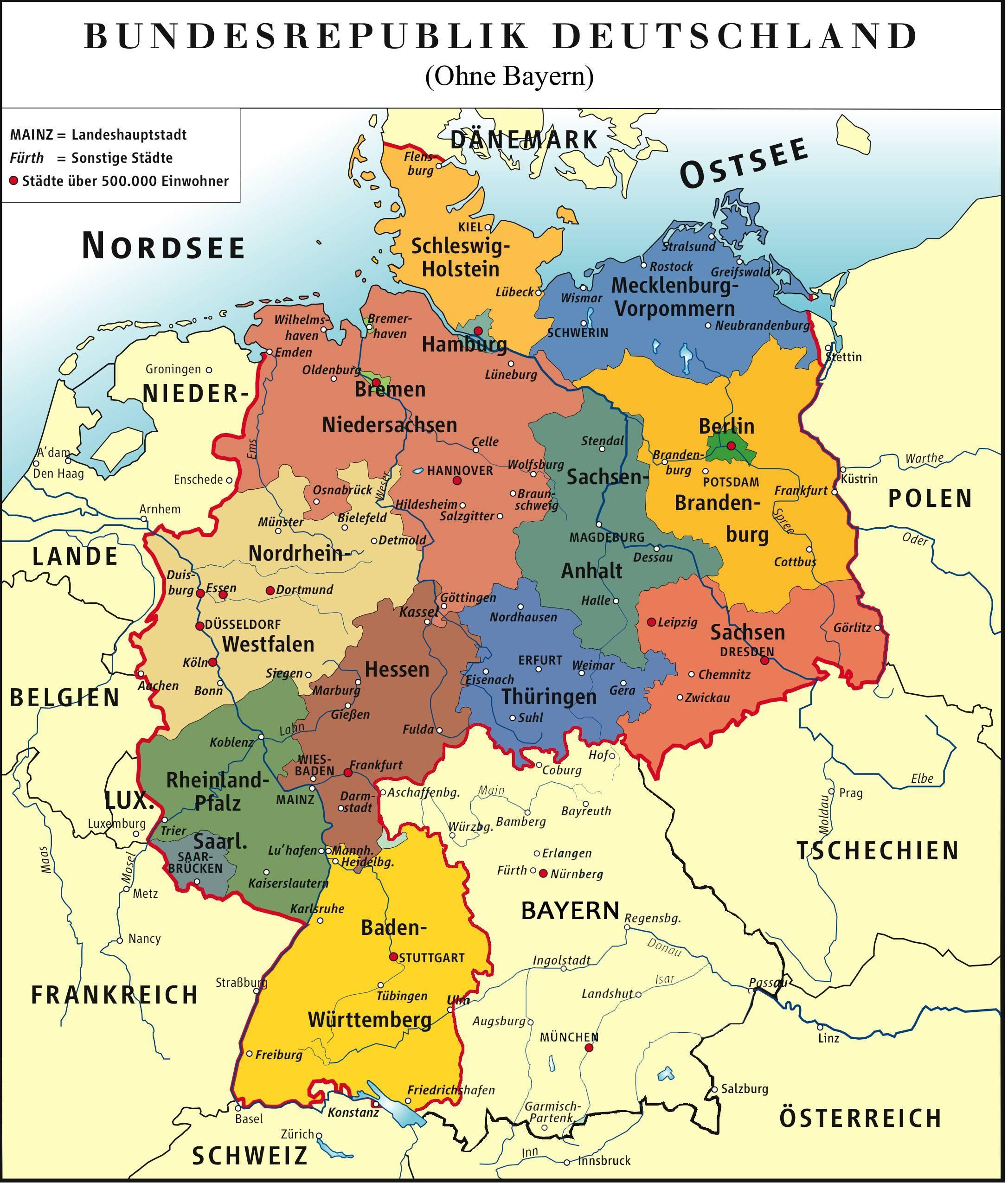 Bayern Saksan Kartta Bayern Munchen Kartta Baijeri Saksa